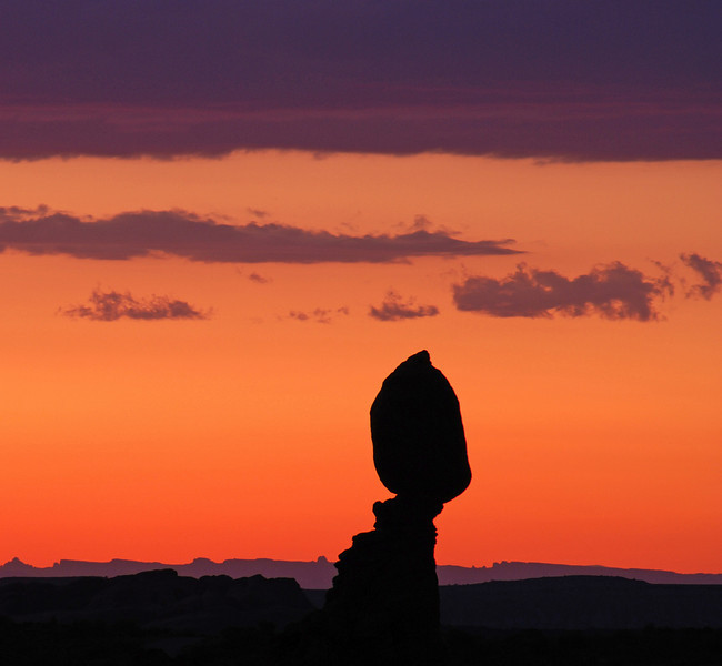 Balanced Rock after sunset-1recropped