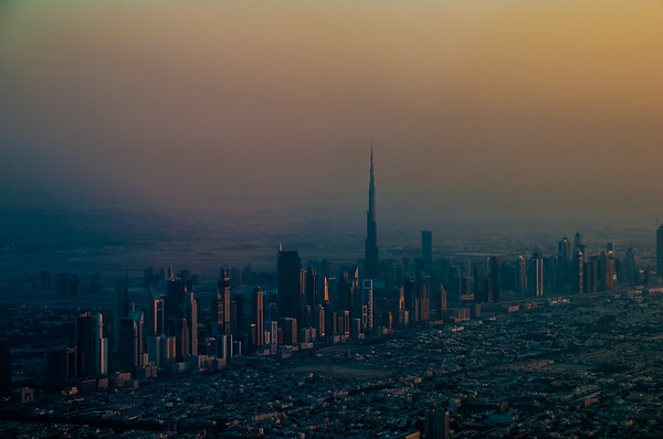 The Dubai Skyline with Burj Khalifa.