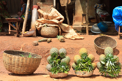 Click here to buy at Alamy. Keywords: Africa Benin Fruit Vegetable Market Pineapples MyID: 09AZa5271