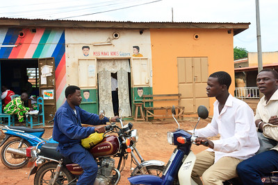 Click here to buy at Alamy. Keywords: Africa Benin Cotonou Motorbike Street Transport MyID: 09AZa5265