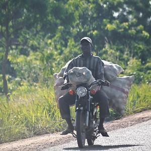 09AZb2099 Abomey to Ketou Africa Benin Motorbikes Streets Transport