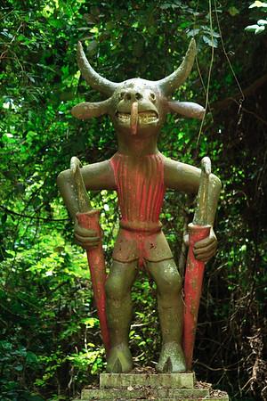 09AZb2064 Africa Animist Art Benin Faiths Ouidah Religions Sacred Forest Sculpture religion