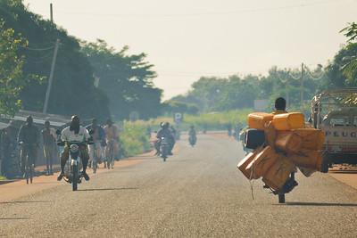 09AZb2089 Abomey to Ketou Africa Benin Motorbikes Streets Transport