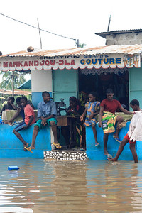 Click here to buy at Alamy. Keywords: Africa Benin Cotonou Floods Market Rain Weather MyID: 09AZb2079