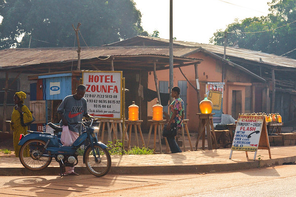 Click here to buy at Alamy. Keywords: Abomey Ketou Africa Benin Motorbike Station MyID: 09AZa5289