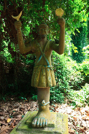 Click here to buy at Alamy. Keywords: Africa Animist Benin Ouidah Sacred Forest Statue MyID: 09AZa5200