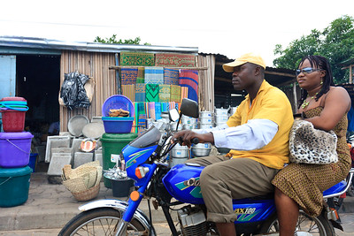 Click here to buy at Alamy. Keywords: Africa Benin Cotonou Motorbike Taxi Transport MyID: 09AZa5258