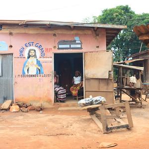 09AZa5266 Africa Benin Cotonou Funeral Parlour Jesus