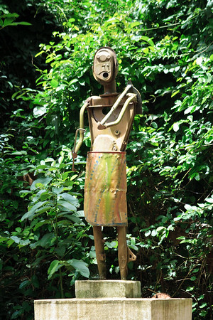 09AZb2059 Africa Animist Art Benin Faiths Ouidah Religions Sacred Forest Sculpture religion