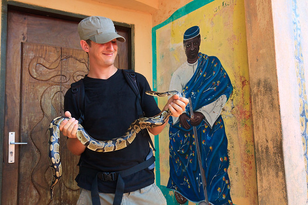 Click here to buy at Alamy. Keywords: Africa Benin Ouidah Python Temple Seth Lazar Men MyID: 09AZa5239