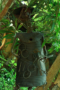 Click here to buy at Alamy. Keywords: Africa Animist Benin Ouidah Sacred Forest Statue MyID: 09AZa5208