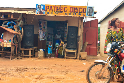 Click here to buy at Alamy. Keywords: Africa Benin Cotonou Jesus Music Shop Sign MyID: 09AZa5267