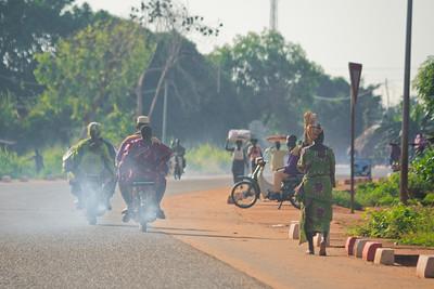 09AZb2085 Abomey to Ketou Africa Benin Motorbikes Streets Transport
