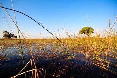 09AZb2950 Africa Sky Botswana Okavango Delta River Seronga