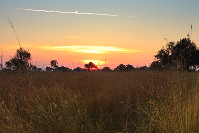 09AZa8400 Africa Botswana Okavango Delta River Seronga Dawn