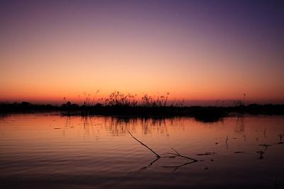 09AZb2962 Africa Botswana Okavango Delta River Seronga