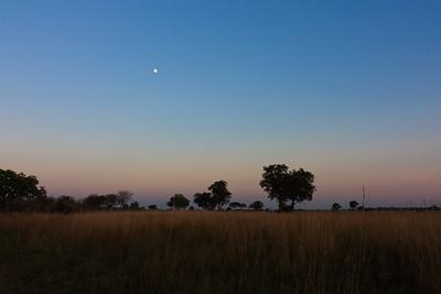 09AZa8402 Africa Botswana Okavango Delta River Seronga Dawn