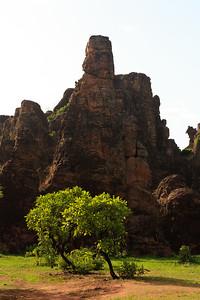09AZa3787 Africa Burkina Faso Mountain Rock Sindou Peaks