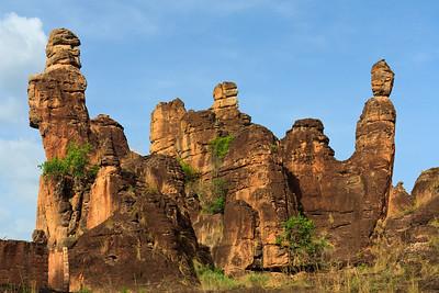 09AZa3786 Africa Burkina Faso Mountain Rock Sindou Peaks