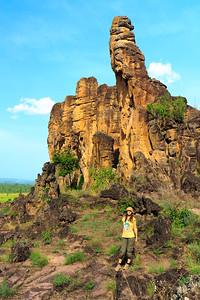 09AZa3742 Africa Burkina Faso Barnham Mountain Sindou Peaks