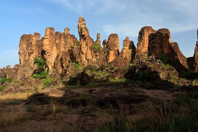 09AZa3784 Africa Burkina Faso Mountain Rock Sindou Peaks