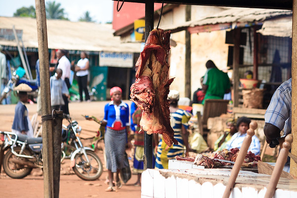 09AZb2432 Africa Cameroon Food Meals Meat Street Food Wum