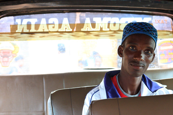 Click here to buy at Alamy. Keywords: Africa Cameroon Minibus Transport Wum Young Men MyID: 09AZa6476