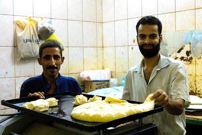 09AZa11167 Africa Assiut Bakers Egypt Food Young Men