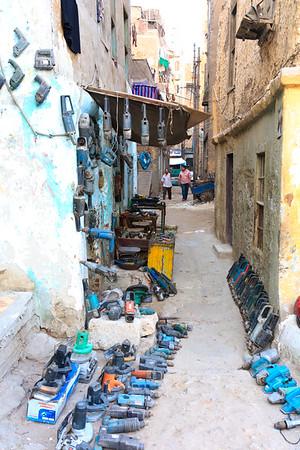 09AZa11978 Africa Blue Egypt Street WorkShop Zagazig
