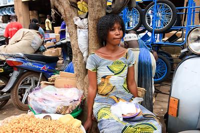 09AZa2495 Africa Bamako Fruit Vegetable Stalls Mali Market