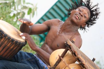 09AZa2390 Africa Bamako Mali Musicians Young Men