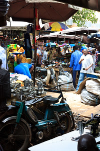 09AZa2469 Africa Bamako General Store Mali Market Motorbike