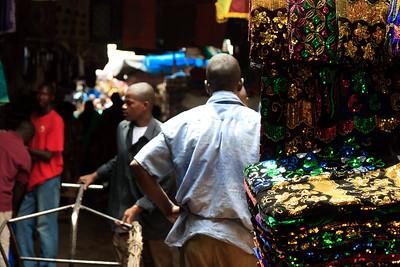 09AZa2468 Africa Bamako Clothes Store Mali Market Textile