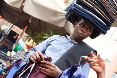 09AZa2496 Africa Balance Bamako Clothes Shop Mali Market