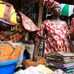 09AZa2515 Africa Bamako Clothes Store Mali Market Textile