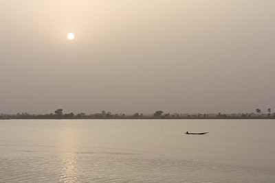 09AZa2538 Africa Light Mali Rivers Segou Sunset Water
