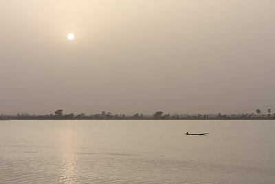 09AZa2538 Africa Light Mali Rivers Segou Sunset Water