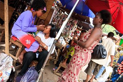 09AZa2481 Africa Bamako Barbers Mali Market Shop