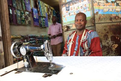 09AZa2466 Africa Bamako Clothes Shop Mali Market Textile