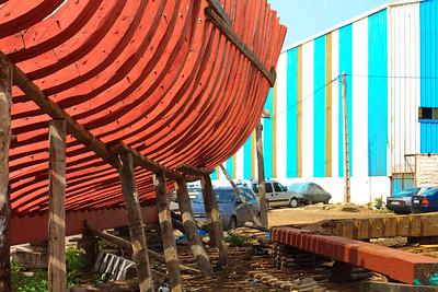 09AZa8 Africa Agadir Blue Morocco Red Street WorkShop