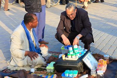09AZa648 Africa Market Meknes Morocco Old Men Street Work