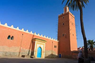 09AZa106 Africa Blue Sky Islam Morocco Mosques Faith Tiznit