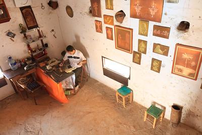 09AZa68 Africa Craftsman Morocco Street Tiznit WorkShop