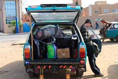 09AZa139 Africa Lu Barnham Morocco Taxi Tiznit Women