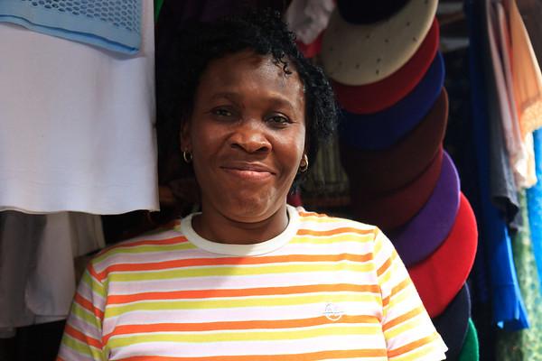 Click here to buy at Alamy. Keywords: Africa Calabar Clothes Shop Nigera Watt Market MyID: 09AZa5366