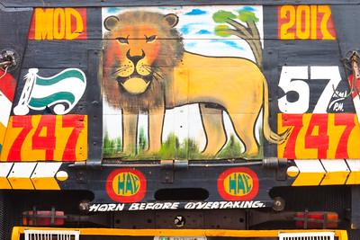 09AZa5412 Africa Cross River Decoration Ikom Nigeria Truck