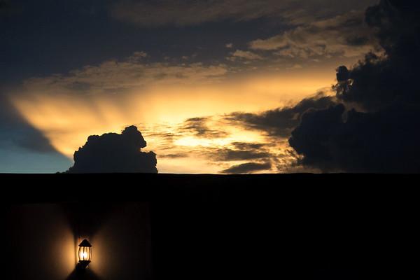 09AZb2241 Africa Cloud Cross River State Ikom Nigeria Sunset