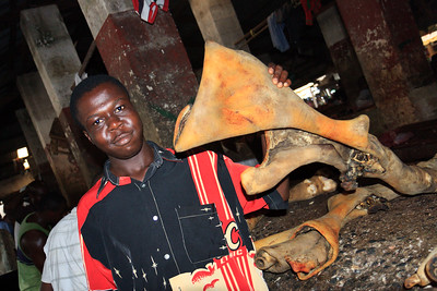 Click here to buy at Alamy. Keywords: Africa Butcher Calabar Cross Nigeria Watt Market MyID: 09AZa5397