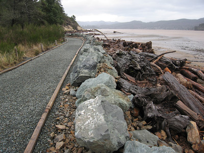 Park staff often adds rock and rebuilds the path to prevent further erosion.
