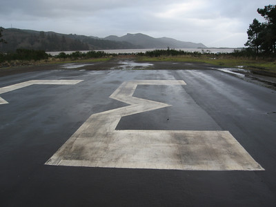 Today the south end of the air strip lies just 150 feet from the edge of the water at high tide.